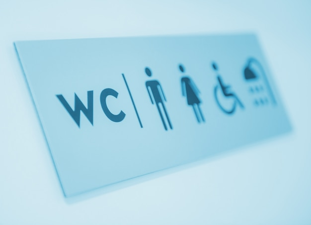Znak toalet i prysznice