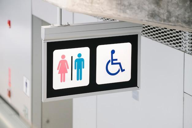 Znak toalety