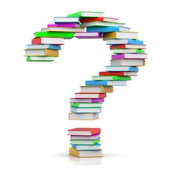 Znak zapytania stos książek