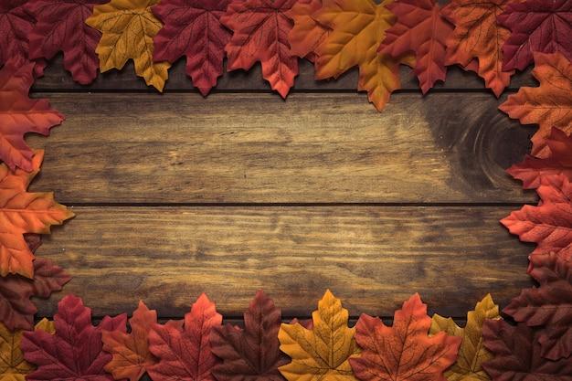 Znakomita jesienna rama klonu