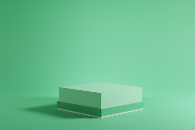 Znakomita zielona makieta podium na zielonym tle