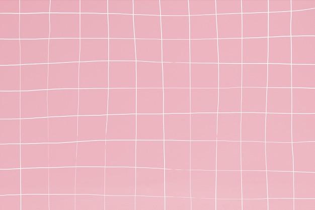 Zniekształcone tło tekstury ściany z różowymi płytkami