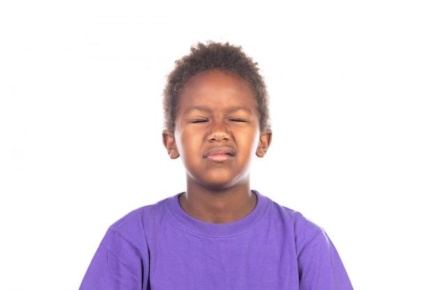 Znudzony afrykańskie dziecko