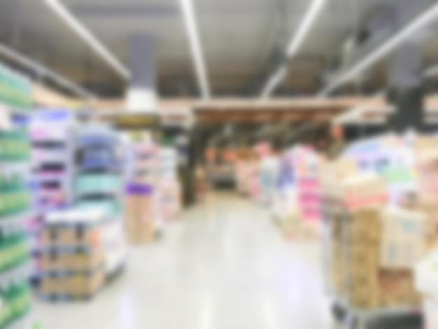 Zogniskowany supermarkecie