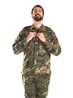 Żołnierz na białym tle
