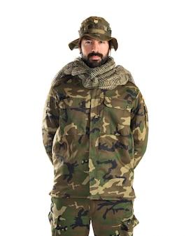 Żołnierz z kapeluszem