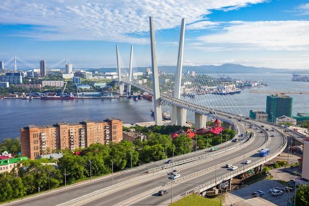 Zolotoy golden bridge, władywostok