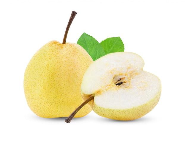 Żółta bonkrety owoc na biel ścianie
