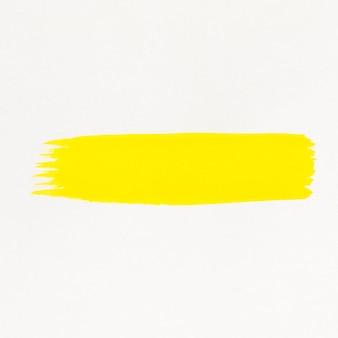 Żółta linia pędzla malowana akwarelą