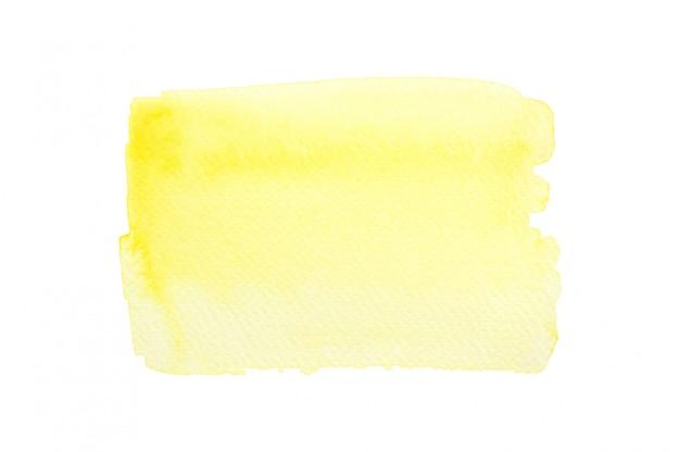 Żółta plama akwarela