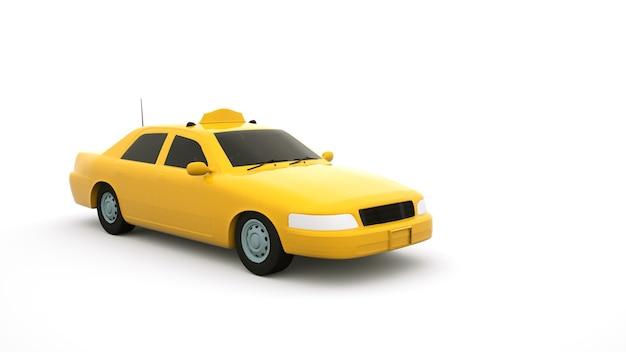 Żółta taksówka, kabina samochodu osobowego. pusty samochód