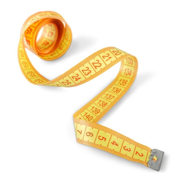 Żółta taśma miernicza, przyrząd do pomiaru dokładności