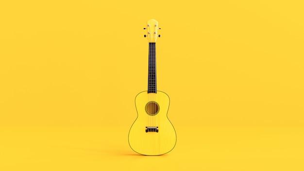 Żółta ukulele
