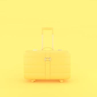 Żółta walizka