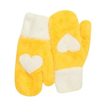 Żółte mitynki z kierowym symbolem na białym tle