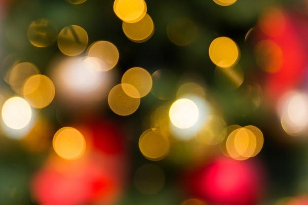 Żółte światła bokeh tekstura. światła bożego narodzenia blured