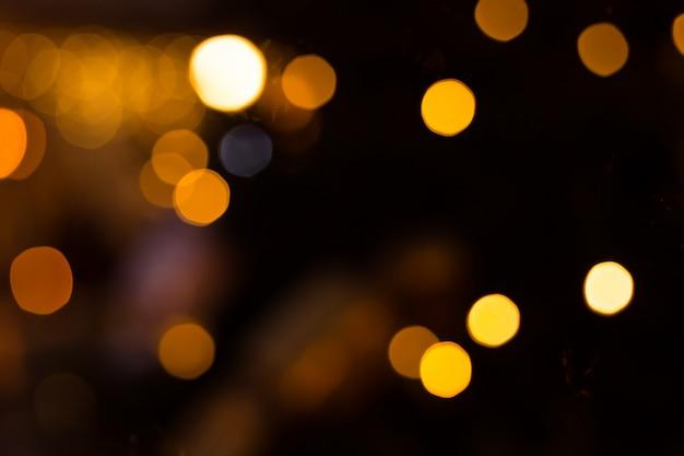 Żółte światła bokeh