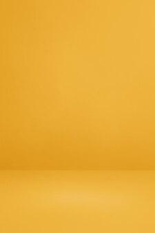 Żółte tło wnętrza betonu. pusta scena szablonu