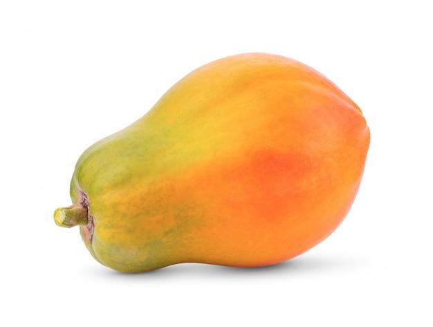 Żółty arbuz odizolowywający na bielu
