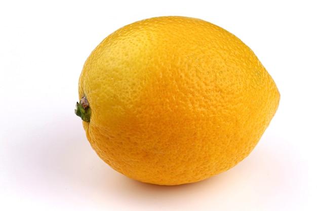 Żółty cytrynowy zbliżenie całą białą powierzchnię