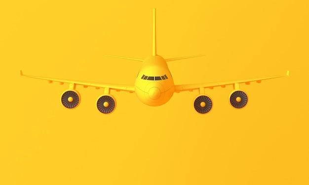 Żółty czterosilnikowy samolot na żółto