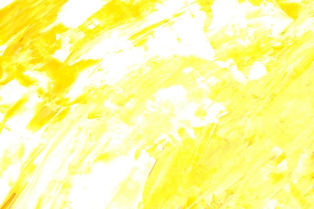 Żółty i biały pociągnięcia pędzla teksturowanej tło