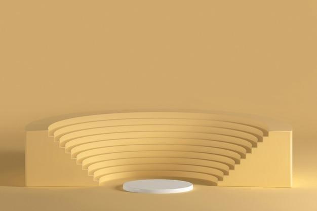 Żółty kolor tła podium amfiteatru