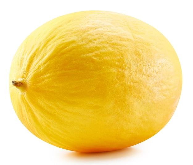 Żółty melon spadziowy galia na białym tle