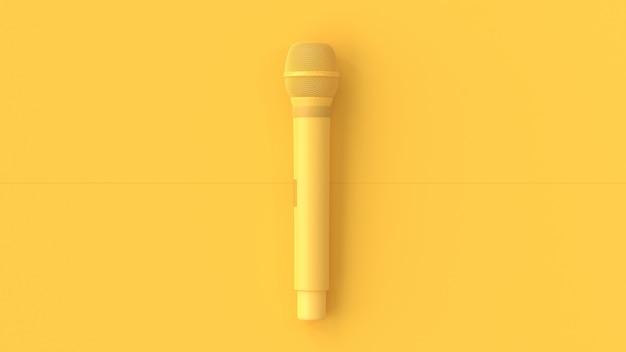 Żółty mikrofon muzyki w tle.