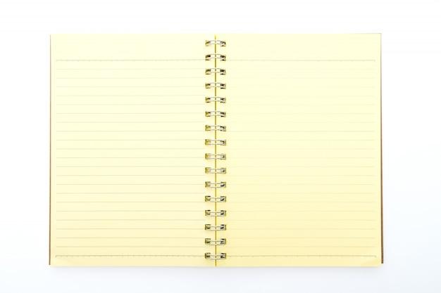 Żółty notatnik otwarta