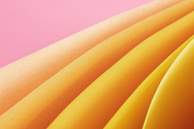 Żółty papier krzywa wysoki widok
