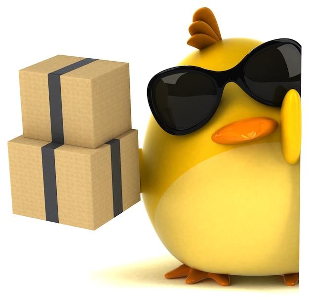 Żółty ptak - postać 3d