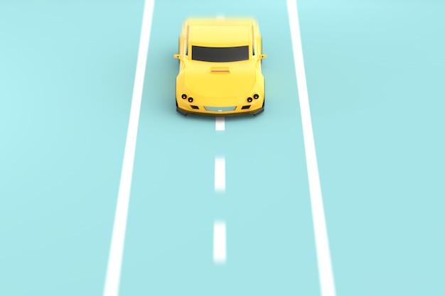Żółty samochód sportowy