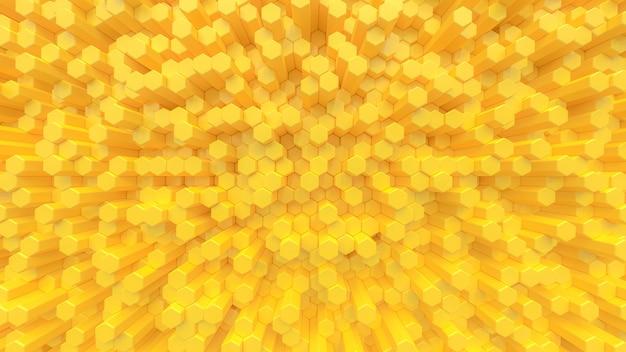 Żółty sześciokąt wygląda jak ul pszczół