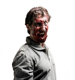Zombie otwierając usta