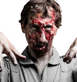 Zombie patrząc w górę