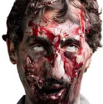 Zombie twarz close