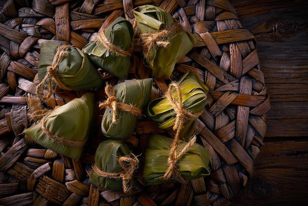 Zongzi glutinous lepki ryżowy przepis na pierogi