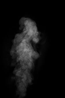 Zorientowany dym na ciemnym tle. abstrakcyjne tło, element projektu, do nakładki na zdjęcia.