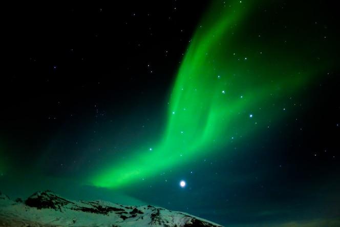 Zorza polarna południowa islandia