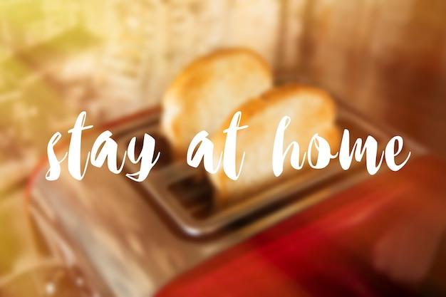 Zostań w domu w tle