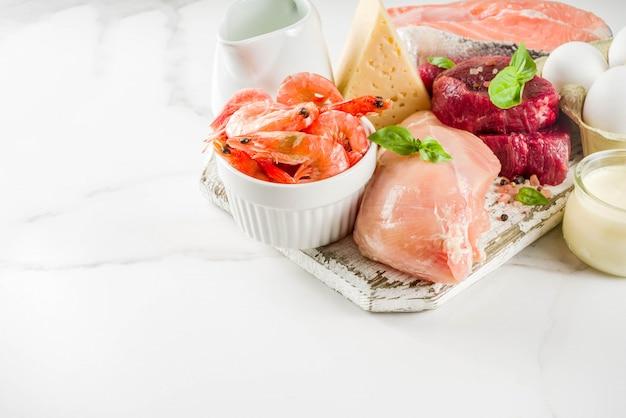 Źródła białka zwierzęcego, mięso, ag, produkty mleczne, ser, owoce morza
