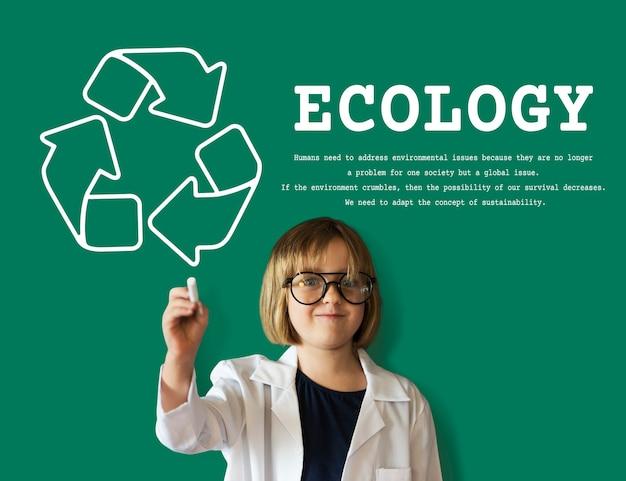 Zrównoważona ekologia ekologiczna natura recycle planet