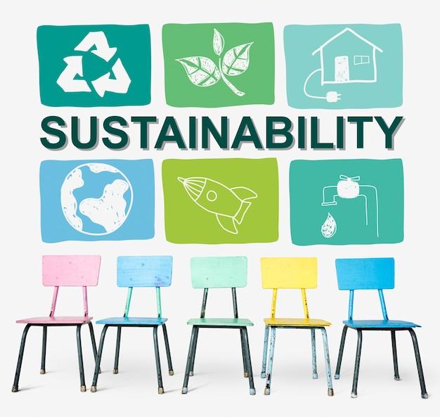 Zrównoważony rozwój ekologia save environment concept
