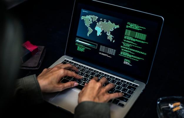 Zróżnicowana sesja hakerska komputerowa