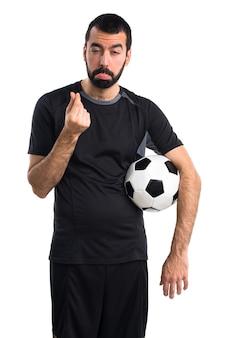 Zrujnowany piłkarz