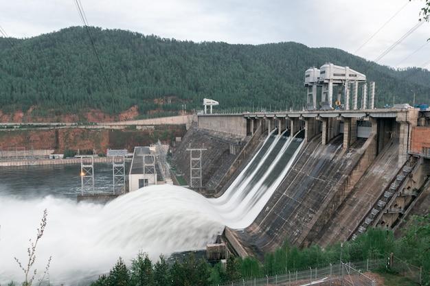 Zrzut wody do elektrowni wodnych