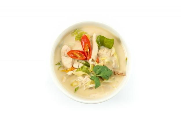 Zupa z mleka kokosowego z kurczakiem