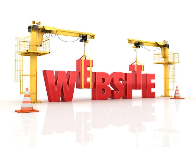 Żurawie budujące słowo strony internetowej