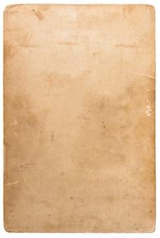 Zużyta tekstura kartonu fotograficznego. obiekt notatnika. stary arkusz papieru z krawędziami